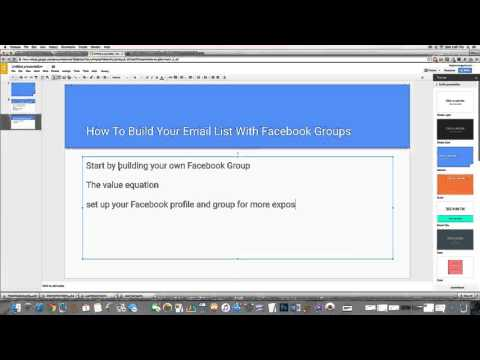 How to build your email list with facebook groups