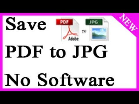 How to Save PDF files to JPG files without Installing any Softwares