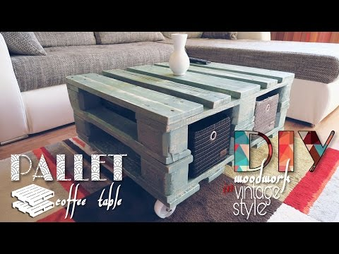 DIY - vintage style pallet coffee table