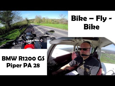 Bike - Fly - Bike VLOG:  BMW R1200GS and Piper PA28 Warrior