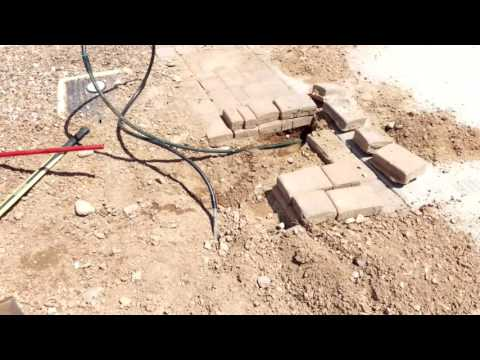 How To Install New Drip Line Under Driveway With Pavers