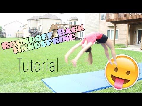 How to do a Roundoff Back Handspring