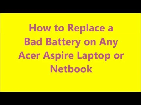 Acer Aspire Laptop Replace Bad BATTERY (Install 5349 5517 4520 5253 5532 5251 5253 5536 WONT CHARGE