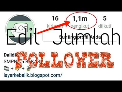 Cara Edit Jumlah Followers Instagram Android - 1,1m #2TUTORIAL