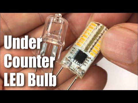 ZEEFO G8 Dimmable 110V 2.5W Warm White 3000K LED Bulbs for under counter kitchen lighting