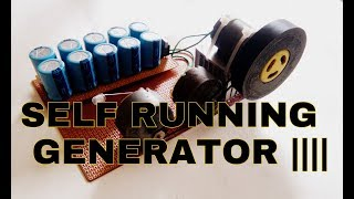 Free Energy | self running generator using 10v capacitor and Three motors.