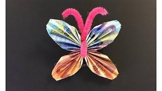 Geldscheine Falten Schmetterling Geldgeschenke Basteln Origami Tiere