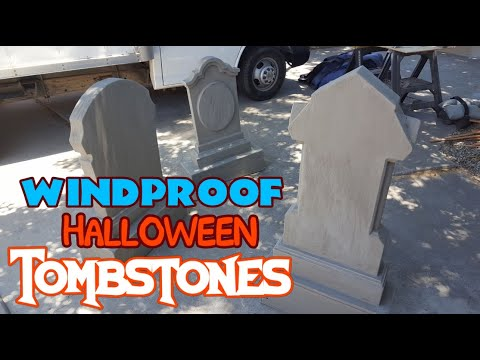 Heavy Duty Halloween Tombstone Props