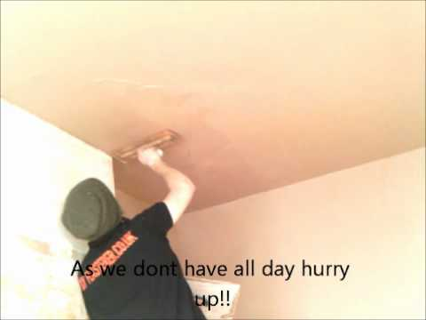 how to plaster a ceiling video
