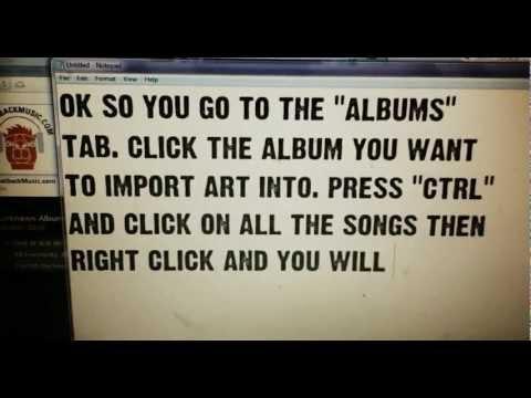 How to Import Album Artwork Into iTunes 2012-2013 Version