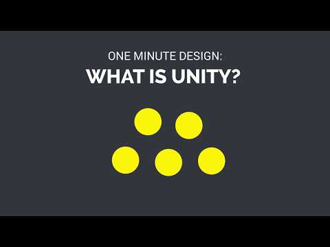 One Minute Design: What is Unity? (in Graphic Design)
