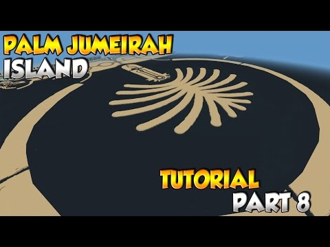 Minecraft Dubai Palm Jumeirah Island Tutorial Part 8