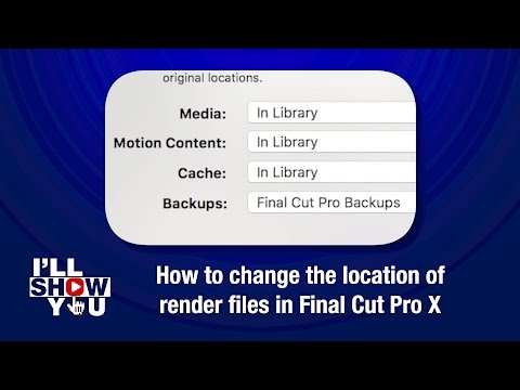 How to change the location of render files in Final Cut Pro X