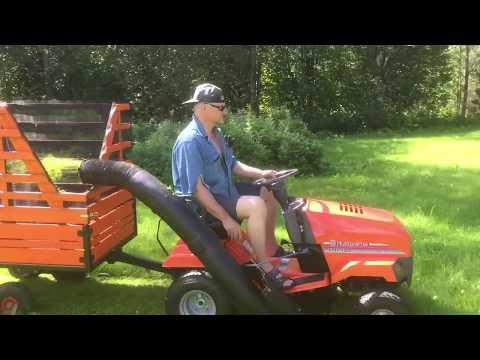 Lawnmower - home made trailer grass catcher