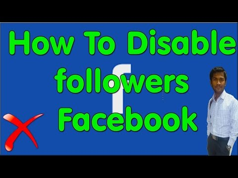 How To Disable Subscribers/followers In Facebook®