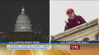 Cadet expected in federal court for role in Capitol riot