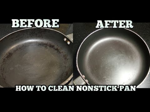 How to clean Greasy Oil from Non Stick Pan-How to Clean Nonstick Cookware-in Hindi