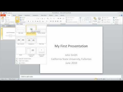 1 - PowerPoint 2010 Crash Course