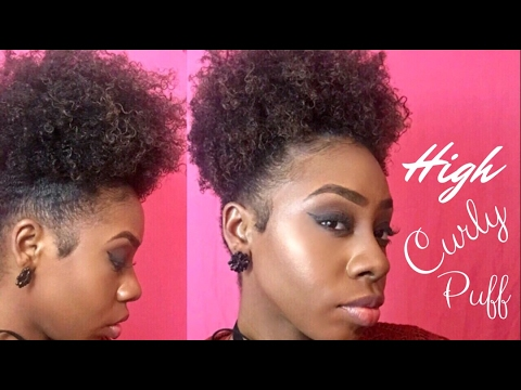 High Curly Hair Ponytail Puff | Short Natural Hair