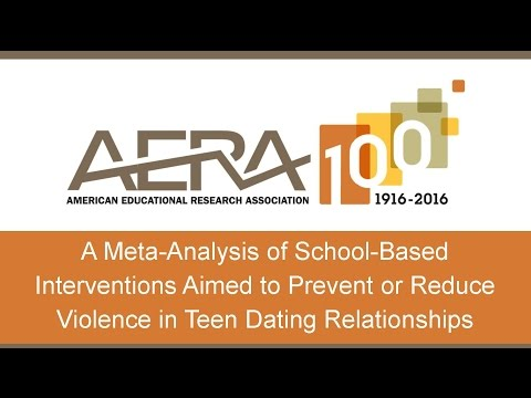 Study: A Meta-Analysis of School-Based Interventions Aimed to Prevent Violence in Teen Dating
