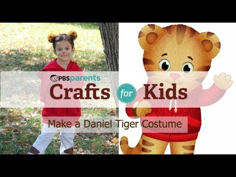 No-Sew Daniel Tiger Costume | Crafts for Kids | PBS Parents