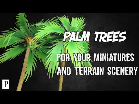 How To Make Palm Trees For Your Miniatures & Terrain Scenery