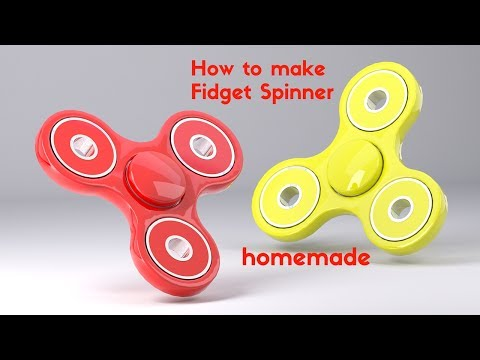 HOW TO MAKE A PAPER FIDGET SPINNER WITHOUT BEARINGS