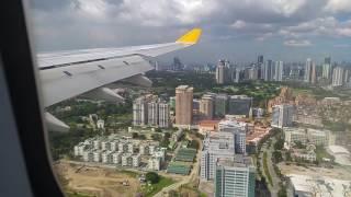 Cebu Pacific: A330 RP-C3345 5J 7945 Dubai - Manila: landing at MNL.