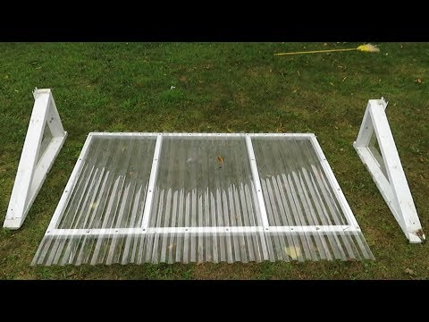 How to build a Large Window Well Cover for Egress