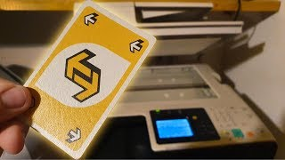 What happens if you photocopy an Uno Reverse Card