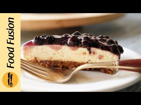 Blueberry Cheese Cake Recipe by Food Fusion