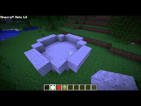 Minecraft: How to build a pokeball