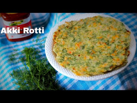 Akki Rotti Recipe | Sabakki Soppu Akki Rotti | Dill leaves Akki Rotti | Easy Southindian Breakfast