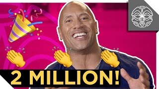 The Rock Thanks You For 2 MILLION SUBSCRIBERS!