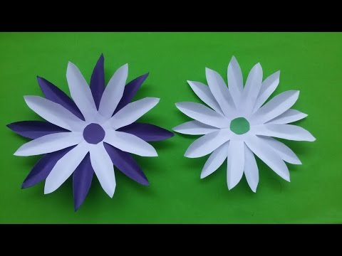 How to make DIY paper flowers (sun flower) video | Home decoration flowers making tutorial