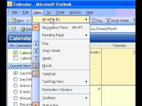 Microsoft Office Outlook 2003 Display details of Calendar items in a view