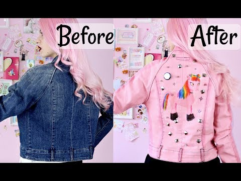 DIY Pastel Goth Denim Jacket/ Unicorn Jacket2