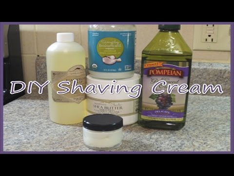 DIY Natural Shaving Cream Recipe!