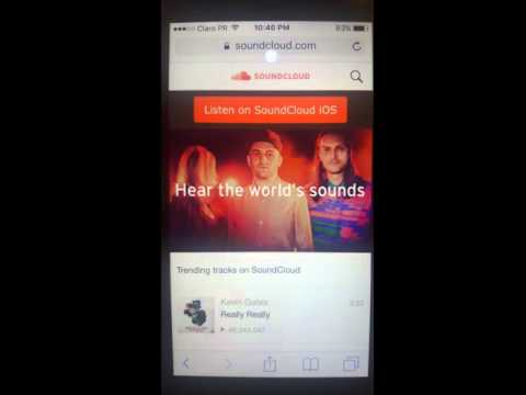 Sharing Private Soundcloud Content from Mobile Devices