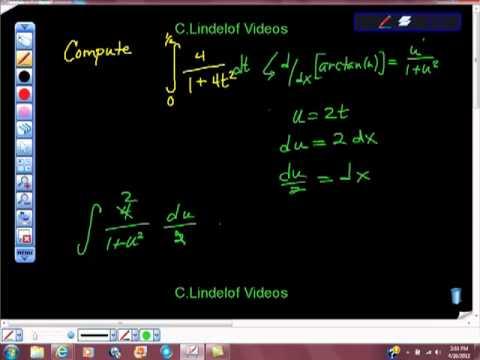 AP Calculus AB Integration Trig Functions arctan HIDDEN definite integral
