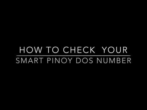 Check your Smart Pinoy DOS Number