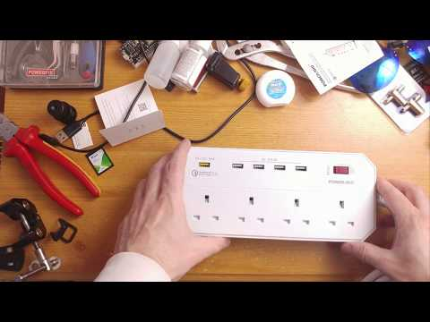 Extension Lead with USB sockets PowerAdd