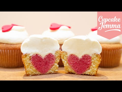 How to Bake a Heart Inside a Cupcake | Cupcake Jemma