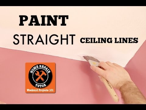 How to paint a straight ceiling line (in a bathroom) -- by Home Repair Tutor