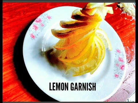 Lemon Garnishes_LEMON FLOWERS_Fruit Carving