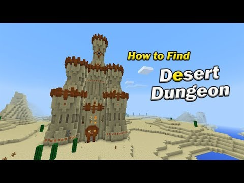How to Find a DESERT DUNGEON | Minecraft PE
