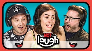 Try To Watch This Without Laughing or Grinning #5 (ft. YouTubers) (REACT)