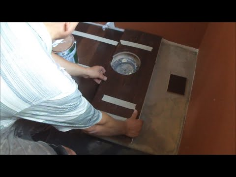 Trick How to Install Hardwood Floor in a Bathroom Using a Painting Can Mryoucandoityourself