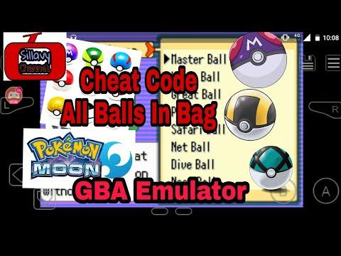 Cheat Code All Balls in Bag Pokemon Moon GBA