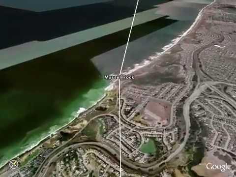 San Andreas fault virtual flyover - GoogleEarth